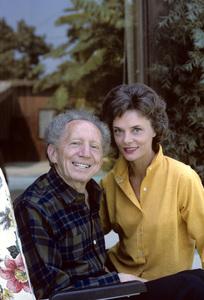 Sam Jaffe at home with his wife Bettye Ackerman1963 © 1978 Gene Trindl - Image 2517_0002