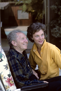 Sam Jaffe at home with his wife Bettye Ackerman1963 © 1978 Gene Trindl - Image 2517_0003