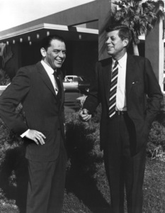 John F. Kennedy with Frank Sinatra in front of the Sands Hotel in Las Vegas, Nevadacirca 1961 - Image 2554_0007