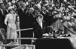 John F. Kennedy, mother Rose Kennedy, Lyndon Johnson, Hubert Humphrey at the Democratic National Convention in Los Angeles, CA1960 © 1978 Bud Gray - Image 2554_0012