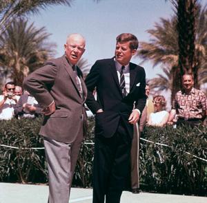 John F. Kennedy and Dwight D. Eisenhowercirca 1961 © 1978 Tom Kelley - Image 2554_0015