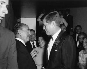John F. Kennedy with Jack Warner in Los Angeles, CA circa 1961 © 1978 David Sutton - Image 2554_0024