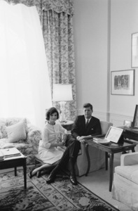 John F. Kennedy and Jacqueline Kennedy at the White House 1961 © 2000 Mark Shaw - Image 2554_0130