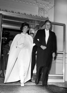 John F. Kennedy and Jackie Kennedyat a White House function 1961**I.V. - Image 2554_0137