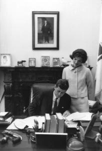 John F. Kennedy and Jacqueline KennedyAt Washington D.C.1959 © 2000 Mark Shaw - Image 2554_0141