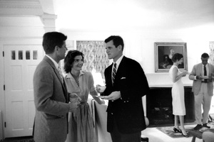 Edward Kennedy at Hyannis Port with John F. Kennedy and Jacqueline Kennedycirca 1960 © 2000 Mark Shaw - Image 2554_0149