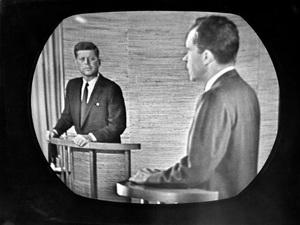 John F. Kennedy debates Richard Nixon1960 - Image 2554_0152