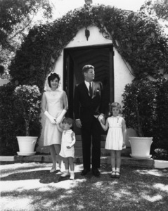 John F. Kennedy with wife Jacqueline, and their children John Jr. and Carolinecirca 1963** I.V.M. - Image 2554_0204