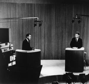 John F. Kennedy and Richard Nixon during a Presidential debate1960** I.V.M. - Image 2554_0207