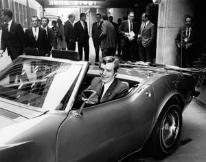 Jean Claude Killy,French skiing champion in New York to promote his new job as a spokesman for Chevrolet