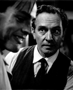 "Fredric March, Kevin McCarthyFilm Set""Death Of A Salesman"" 1951Copyright John Swope Trust / MPTV - Image 2643_0021"