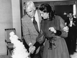 Lee Marvin and Pamela Feeley on their wedding day at the International Hotel in Las VegasOctober 18, 1970 - Image 2660_0145