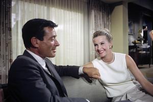 Efrem Zimbalist Jr. and Dina MerrillJuly 1965© 1978 Gene Trindl - Image 2692_0015