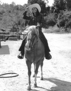 Lee Meriwether horseback ridingc. 1975 © 1978 Kim Maydole Lynch - Image 2693_0004