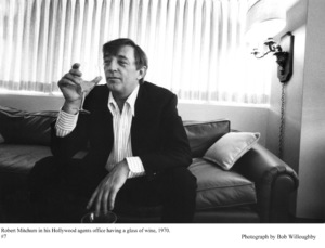 Robert Mitchum in his agents Hollywood office, 1970 © 1978 Bob Willoughby - Image 2706_0129