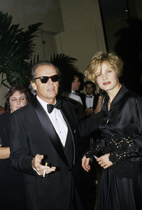 Jack Nicholson with Rebecca Broussard1990 © 1990 Gunther - Image 2754_0016