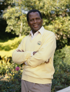 Sidney Poitier at his home in Beverly Hills, CA 1989 © 2009 Bobby Holland - Image 2825_0039