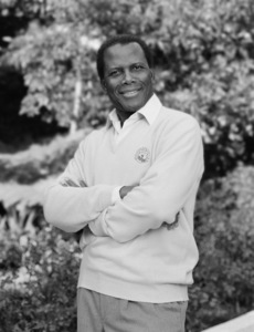 Sidney Poitier at his home in Beverly Hills, CA 1989 © 2009 Bobby Holland - Image 2825_0040