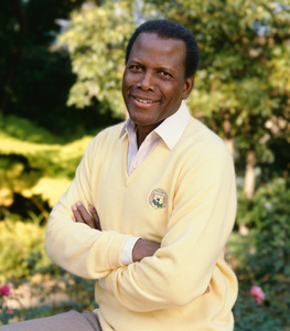 Sidney Poitier at his home in Beverly Hills, CA 1989 © 2009 Bobby Holland - Image 2825_0041