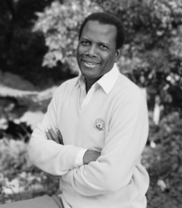Sidney Poitier at his home in Beverly Hills, CA 1989 © 2009 Bobby Holland - Image 2825_0042