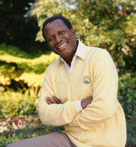 Sidney Poitier at his home in Beverly Hills, CA 1989 © 2009 Bobby Holland - Image 2825_0043