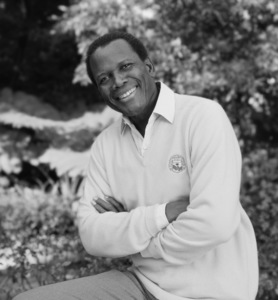 Sidney Poitier at his home in Beverly Hills, CA 1989 © 2009 Bobby Holland - Image 2825_0044