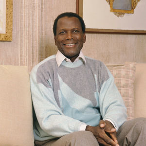 Sidney Poitier at his home in Beverly Hills, CA 1989 © 2009 Bobby Holland - Image 2825_0045