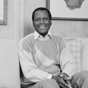 Sidney Poitier at his home in Beverly Hills, CA 1989 © 2009 Bobby Holland - Image 2825_0046