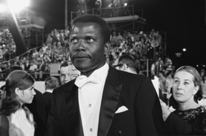 "Sidney Poitier at ""The 40th Annual Academy Awards""1968© 1978 Roy Cummings - Image 2825_0075"