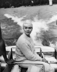 Dorothy Provine on a boat at Lake Arrowhead circa 1960 Photo by Joe Shere - Image 2840_0009