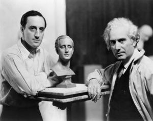 Basil Rathbone and sculptor Mario Korbel1936 - Image 2853_0051