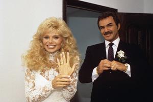 Loni Anderson and Burt Reynolds on their wedding day 1988 © 1988 Mario Casilli - Image 2868_0242