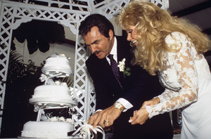 Loni Anderson and Burt Reynolds on their wedding day 1988 © 1988 Mario Casilli - Image 2868_0244
