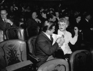 Mickey Rooneywith his mother at the Academy Awards, Grauman