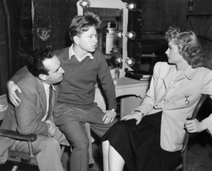 "Harold Lloyd, Mickey Rooney and Lucille Ball on the set of ""A Girl, a Guy, and a Gob""1941 RKO Radio PicturesPhoto by Fred Hendrickson** B.D.M. - Image 2889_0165"