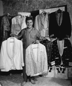 Lee Liberace at home in his walk-in closet, circa 1960. © 1978 Eric SkipseyMPTV - Image 289_325