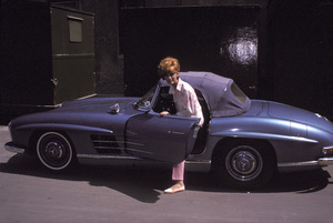 Jill St. John and her 1960 300 SL Mercedes,1962 © 1978 Ted Allan - Image 2908_0010