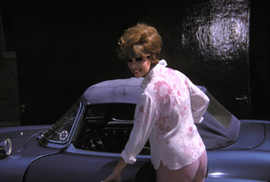 Jill St. John and her 1960 300 SL Mercedes1962 © 1978 Ted Allan - Image 2908_0012