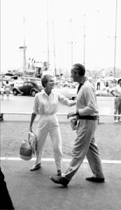 """Jean Seberg and David NivenOn location for""""Bonjour Tristesse""""  1957 © 1978 Bob Willoughby - Image 2927_0065"""