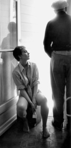 """Jean Seberg On location for the filming of """"BonjourTristesse"""" 1957 © 1978 Bob Willoughby - Image 2927_0074"""