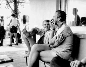 "Jean Seberg , David NivenOn location for the filming of ""BonjourTristesse"" 1957 © 1978 Bob Willoughby - Image 2927_0079"