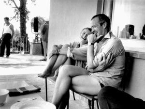 "Jean Seberg , David NivenOn location for the filming of ""BonjourTristesse"" 1957 © 1978 Bob Willoughby - Image 2927_0080"