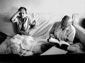"Jean Seberg , Otto PremingerOn location for the filming of ""BonjourTristesse"" 1957 © 1978 Bob Willoughby - Image 2927_0083"