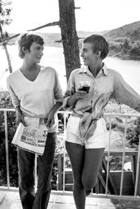 """Bonjour Tristesse""Françoise Sagan, Jean Seberg1958 © 1978 Bob Willoughby - Image 2927_0101"