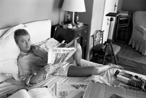 """Jean Seberg during the filming of """"Bonjour Tristesse"""" 1957 © 1978 Bob Willoughby - Image 2927_0102"""