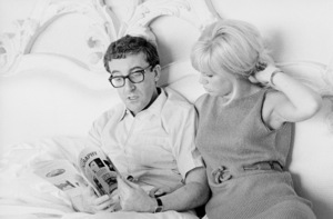 Peter Sellers recouping from his heart attack with Britt Ekland 1965 © 1978 Chester Maydole - Image 2930_0044