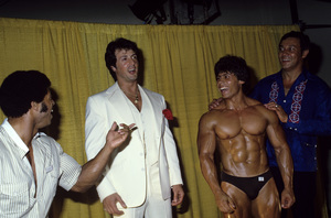 Sylvester Stallone at a bodybuilding competition1978© 1978 Gunther - Image 2976_0111