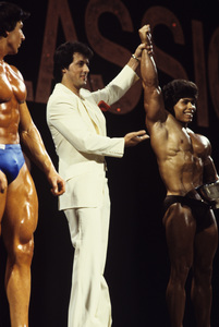 Sylvester Stallone at a bodybuilding competition1978© 1978 Gunther - Image 2976_0112