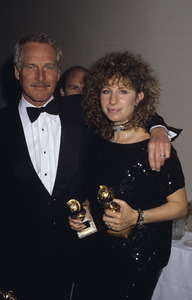 """Barbra Streisand and Paul Newman at """"The 41st Annual Golden Globe Awards""""1984 © 1984 Gary Lewis - Image 2995_0354"""
