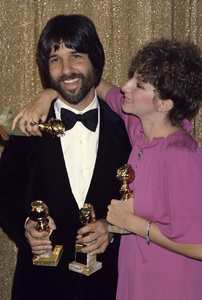 """Barbra Streisand and Jon Peters at """"The 34th Annual Golden Globe Awards""""1977 © 1978 Gary Lewis - Image 2995_0367"""